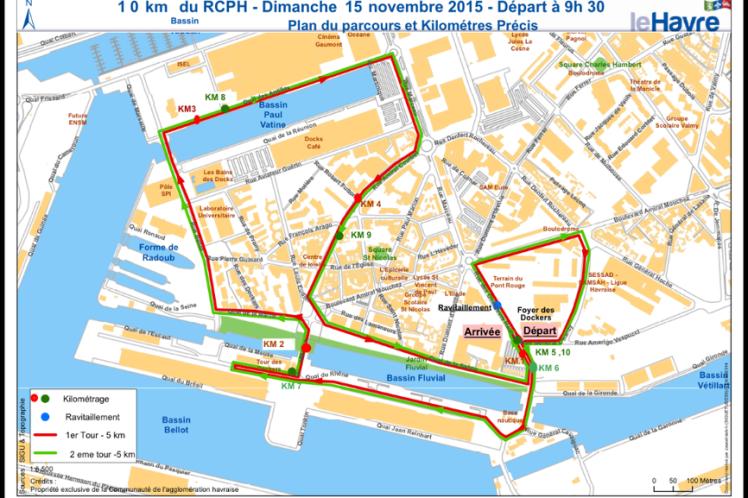 plan du parcours 10 km rcph
